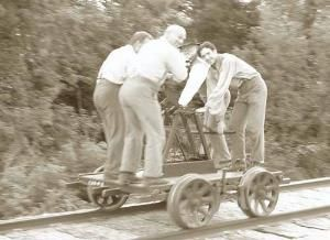 railroad hand cart | Hand pumped rail cart: