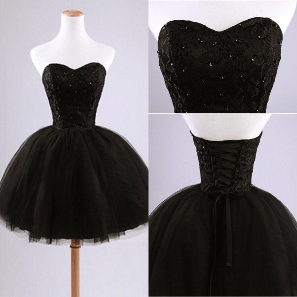 little black prom dress short black ball gown sweetheart prom