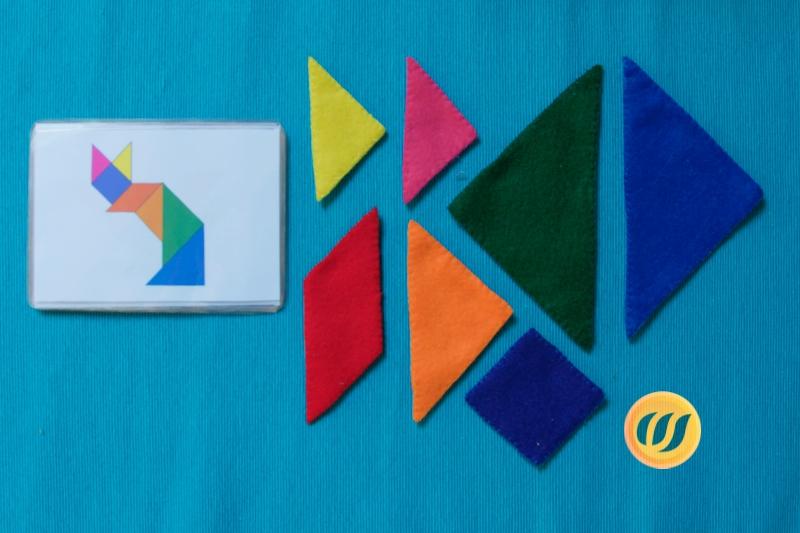 tangram aus filz  kindergartenkind selbstgemachtes