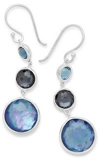 Ippolita Silver Lollitini Five-Stone Earrings in Eclipse SKwC6oB