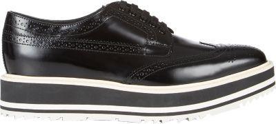 Prada Wingtip Brogue Platform Sneakers