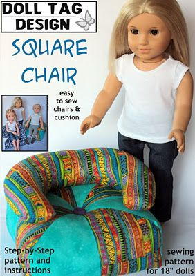 American Girl Doll size homemade chair - Christmas SCORE!!!!!