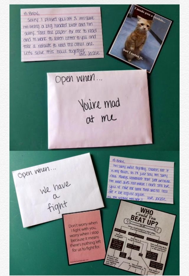 Examples Of What You Could Put In An Open When Letter Cute Couple