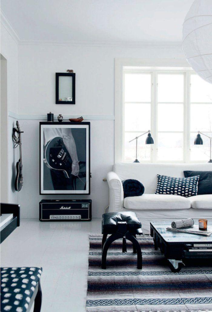 Noir et blanc  couleurs d\u0027un intérieur chaleureux