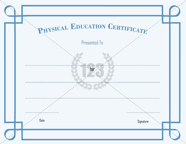 Get Free Physical Education Certificates - 123Certificate - stock certificate template