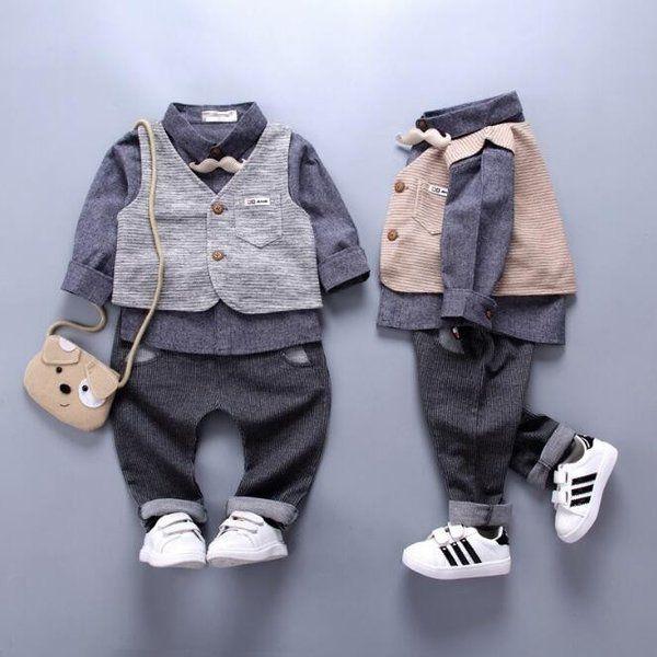 4621da350ea74 子供服 キッズ フォーマル スーツ 男の子 ベビー服 子供スーツ 3点セットベスト+シャツ +