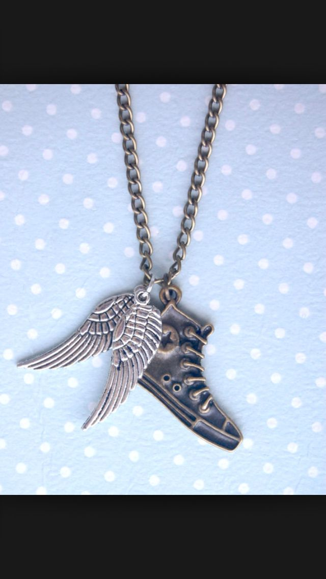 Isn't this necklace Awesome!?! It's Hermes' winged converse!Perfect for us children of Hermes right? ;-D