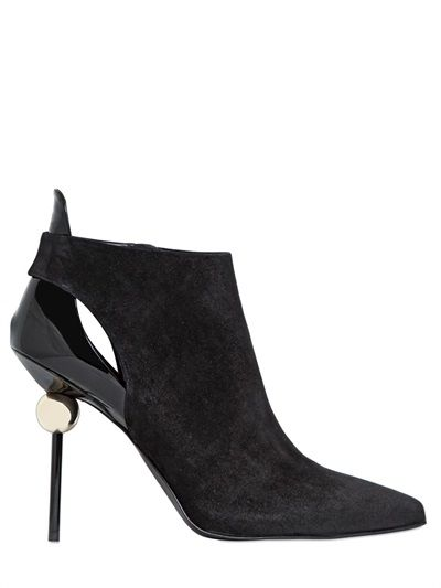 ROGER VIVIER - 110MM SPHERE SUEDE ANKLE BOOTS - LUISAVIAROMA - LUXURY SHOPPING WORLDWIDE SHIPPING - FLORENCE