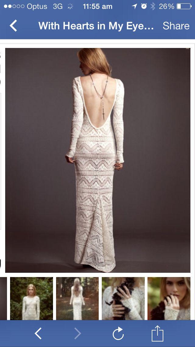 Low Back Crochet Wedding Dress