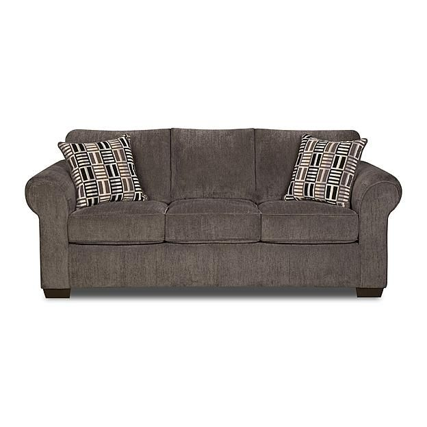 Simmons Upholstery Gray Lola Full Size Sleeper Sofa 1099 At Sears
