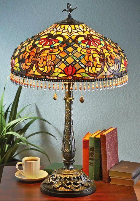 J J Peng Tiffany Style Beaded Lamp Amazon Com Beaded Lamps