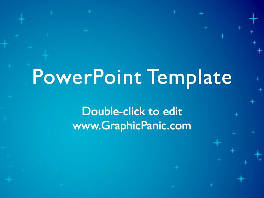 Blue Star Background Powerpoint Template  Powerpoint Background