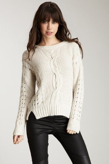 Zoa Cable Detailed Basic Sweater