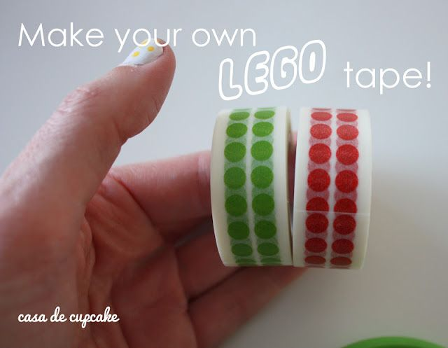 casa de cupcake || Lego Party invites and make your own Lego tape ...