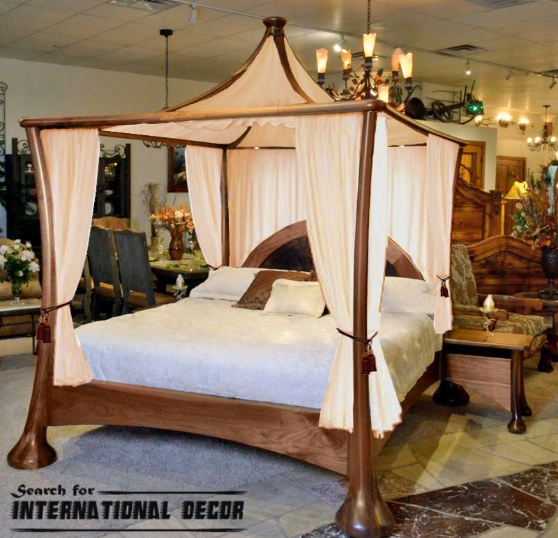 Four Poster Bed And Canopy For Romantic Bedroom King Size Canopy Bed Canopy Bed Curtains Contemporary Canopy Beds
