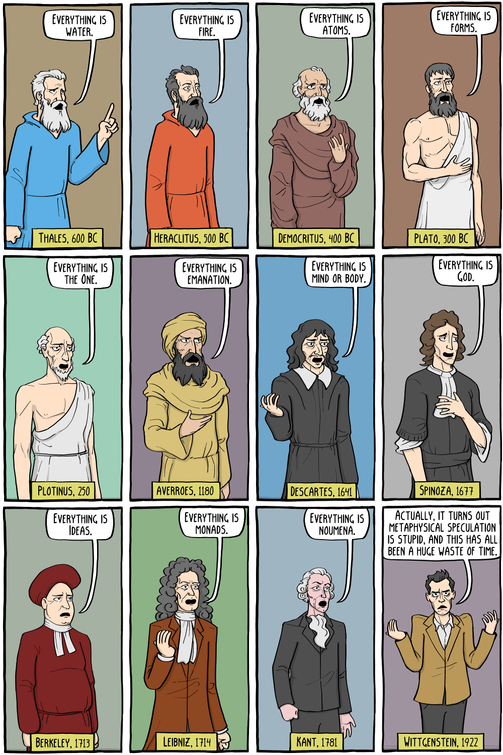 A philosophy webcomic about the inevitable anguish of living a brief life in an absurd world. Also Jokes #sciencehistory