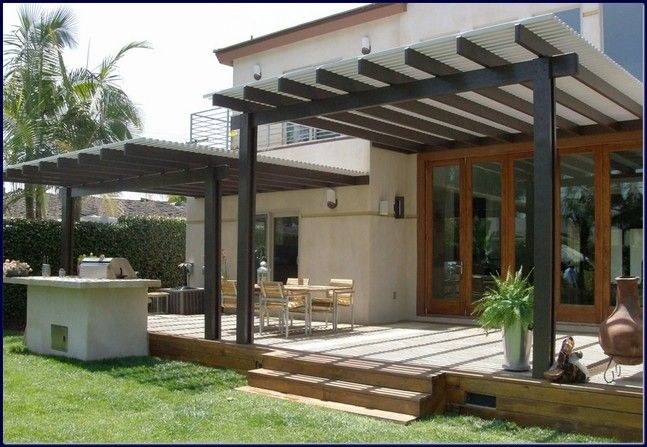 Superbe Exterior Cool Modern Patio Cover Decor
