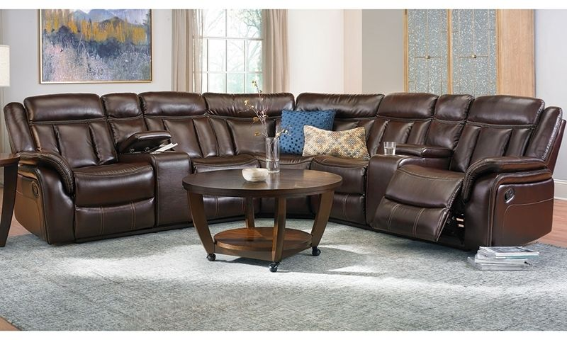 Agnes Triple Reclining Storage Sectional With Cup Holders Sectional Sofa With Recliner Living Room Recliner Sectional Sofa
