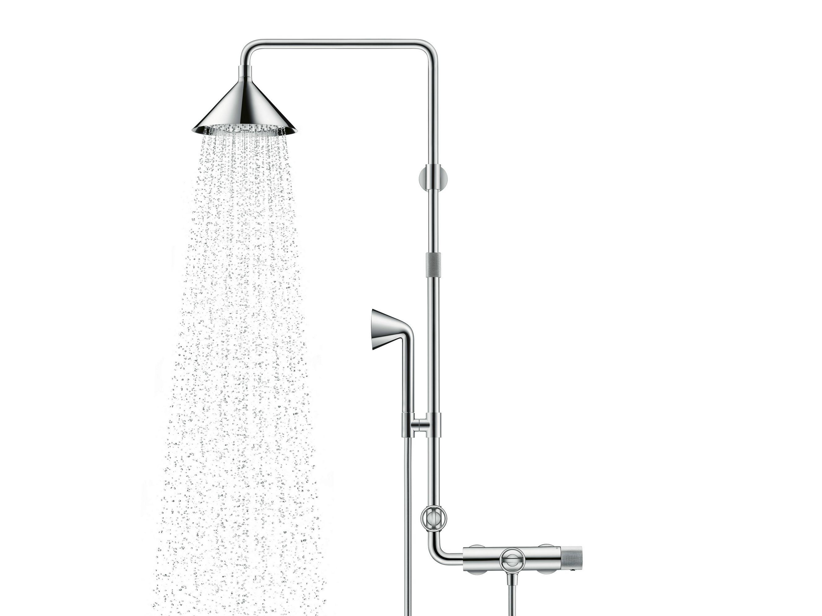Accessoires Salle De Bain Axor ~ stainless steel shower panel axor shower pipe by hansgrohe design