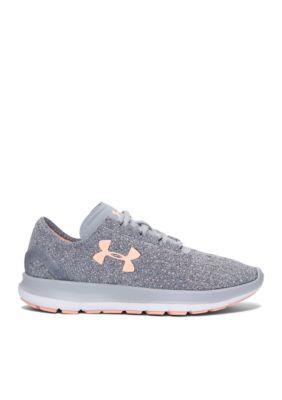 c83c10ab94b5d Under Armour Women s Slingride Tri Sneaker - Overcast Gray White Playful  Peach - 8.5M