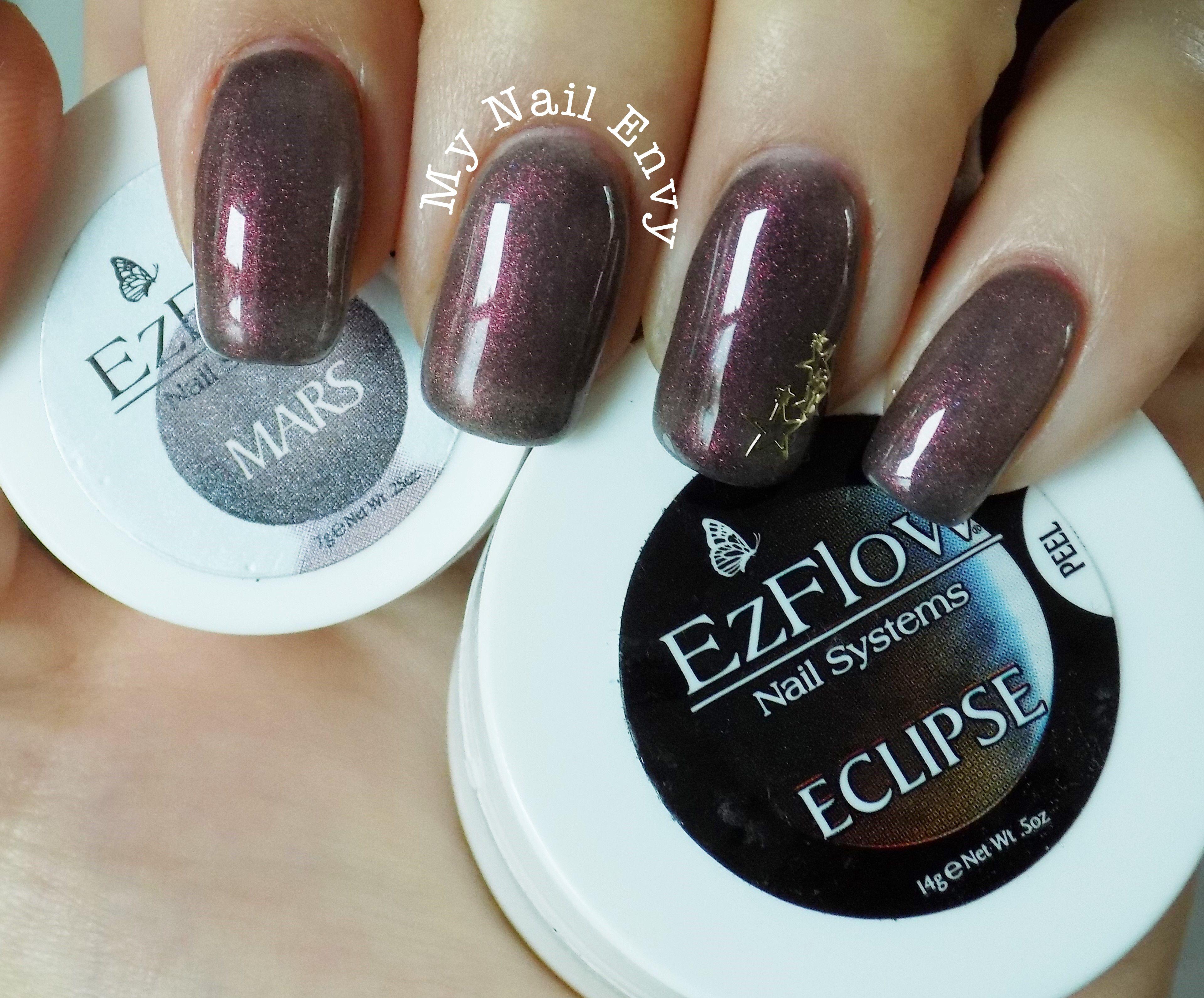 Mars – My Nail Envy EZ Flow, burgundy moonstone nails, soak off gel ...