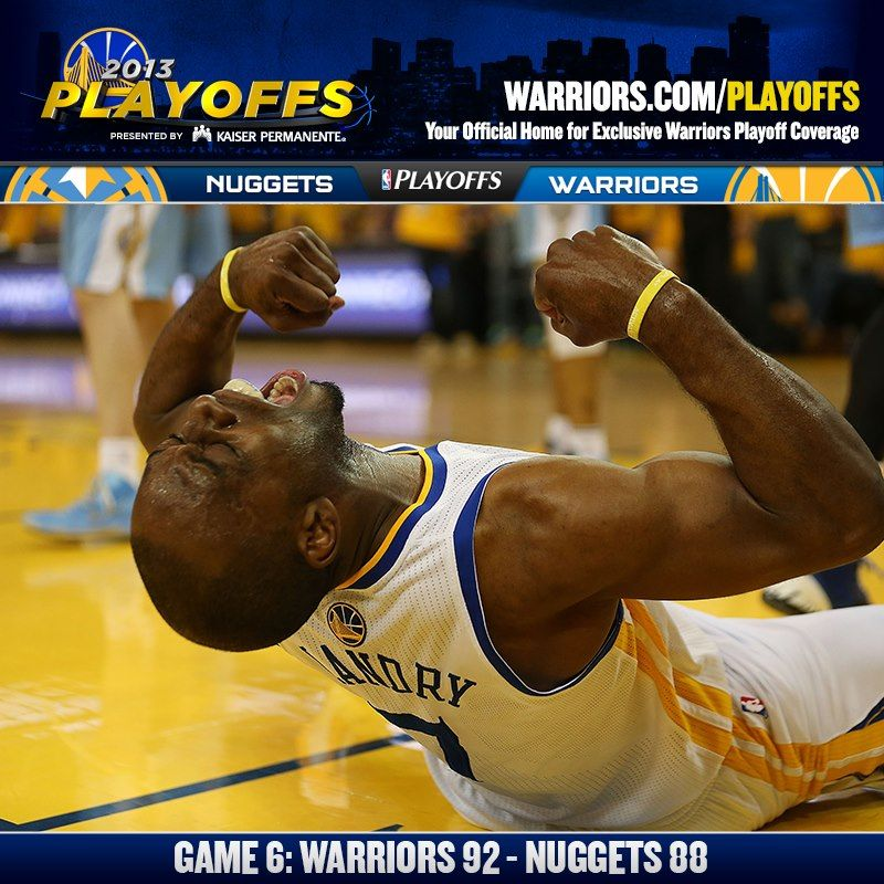 HELLO SECOND ROUND!!! The Warriors Completed A 4-2 Series