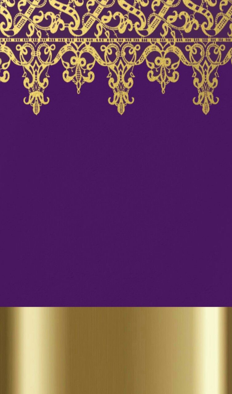 Purple Gold Wallpaper By Artist Unknown