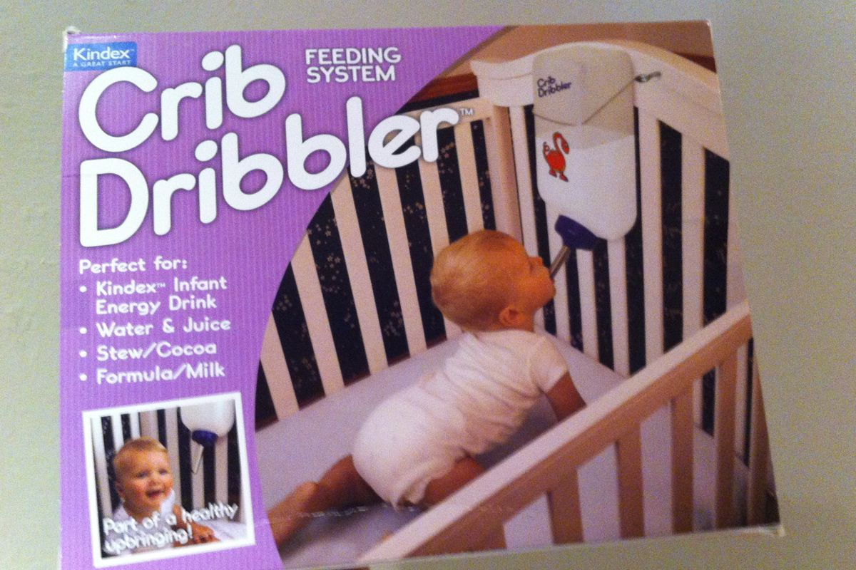 Crib Dribbler Wrap Your Real Gift in a Joke Gift Box Baby Shower Prank Box Pack