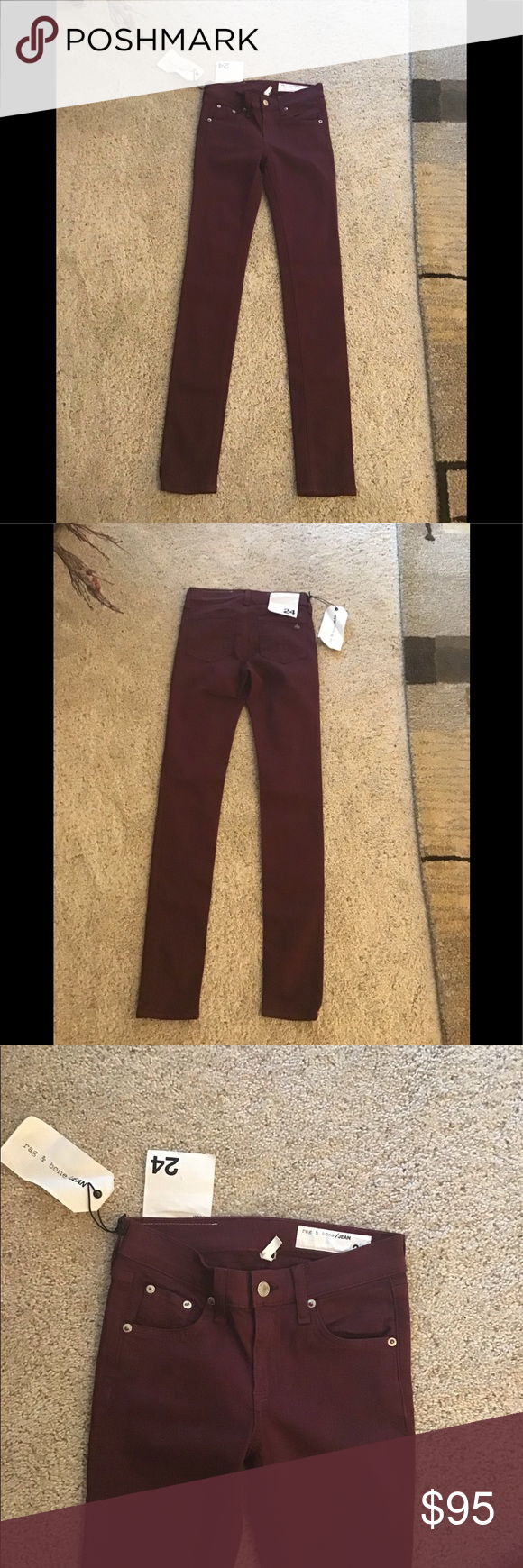 tag & bone port skinny jeans NWT mid rise skinny jeans size