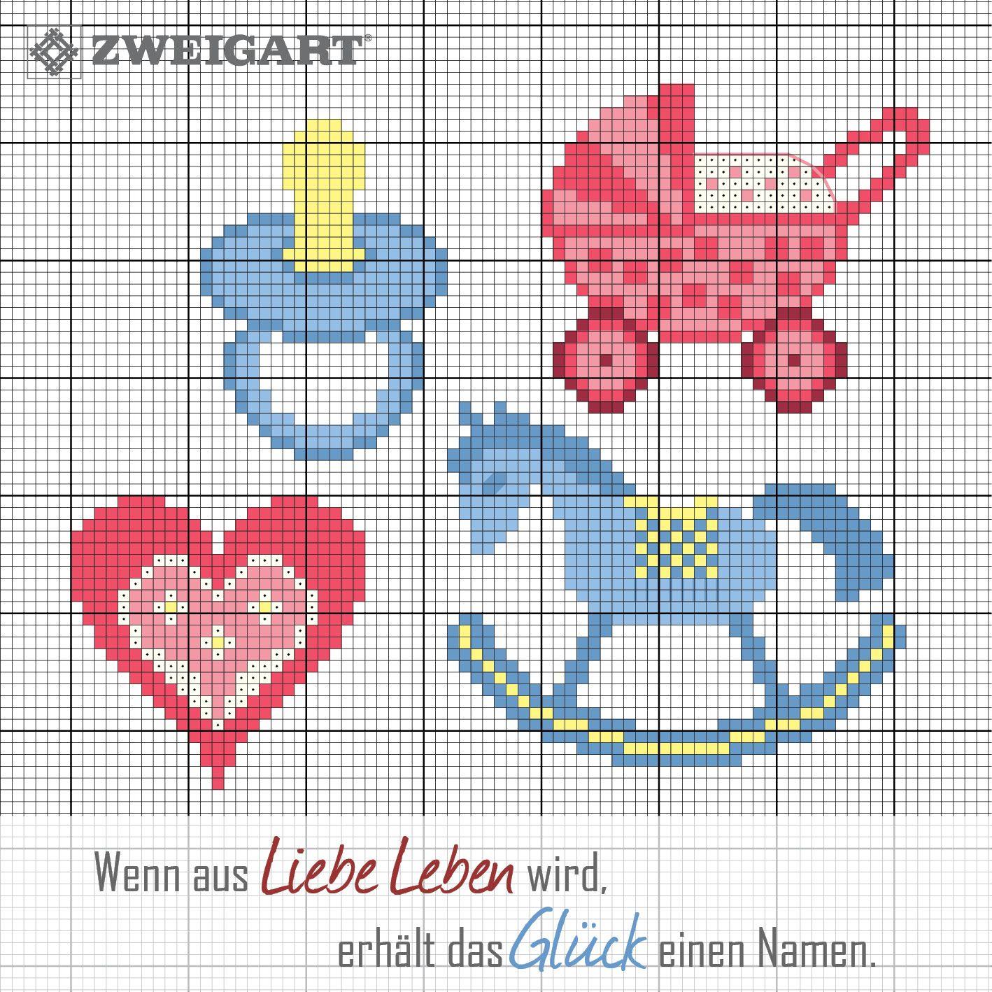 Zweigart sticken-baby-aida-würfel | Kreuzstich Stickerei - Baby ...