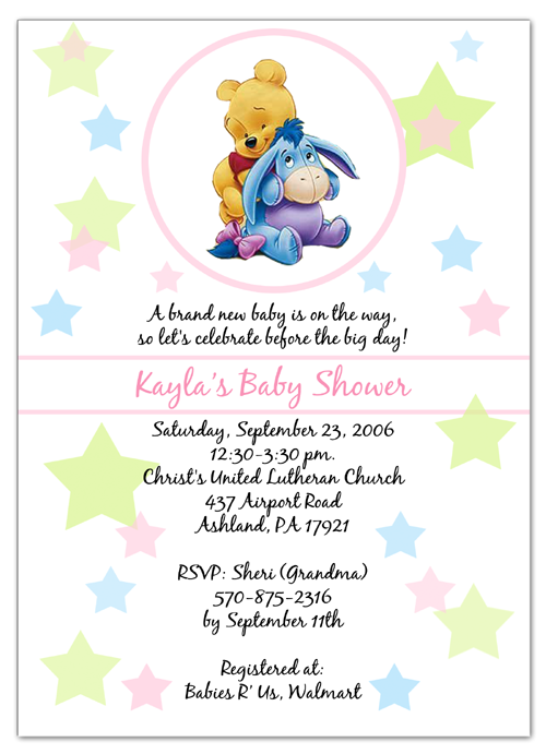 winnie the pooh & eeyore baby shower invitations | parties | pinterest,