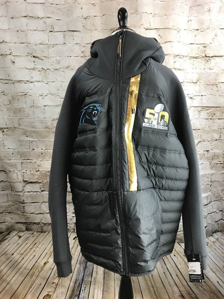more photos c1a56 608cd Carolina Panthers Super Bowl 50 On Field Authentic Jacket ...