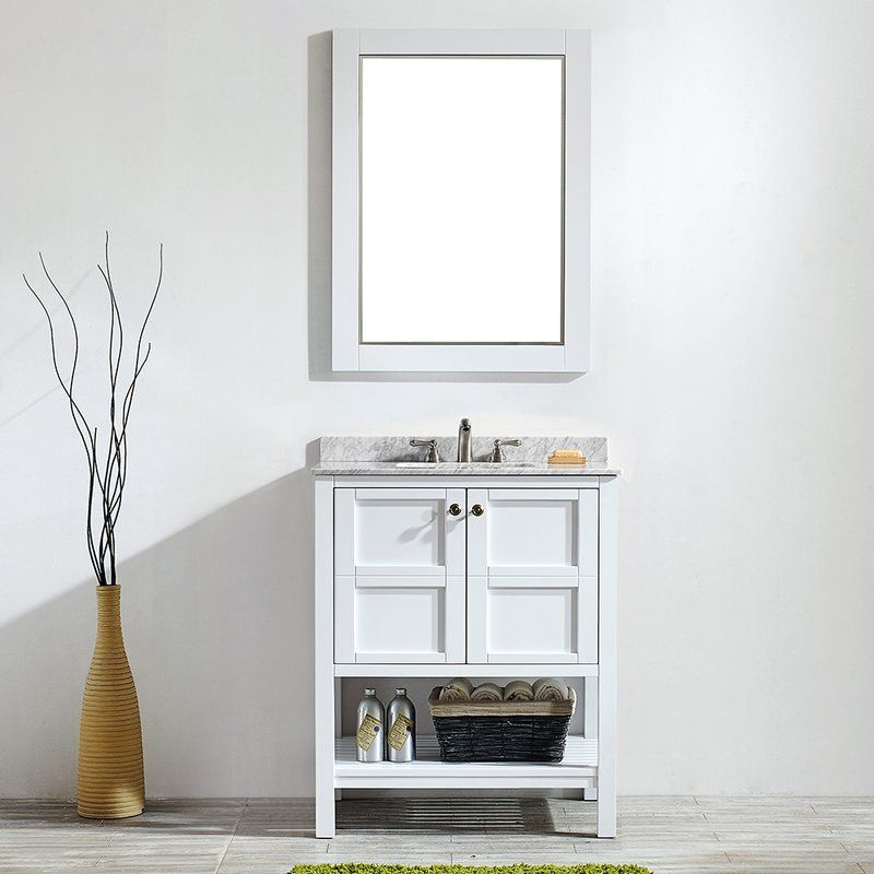 Caldwell 30 Single Bathroom Vanity Set With Mirror Single Bathroom Vanity Marble Vanity Tops Double Vanity Bathroom