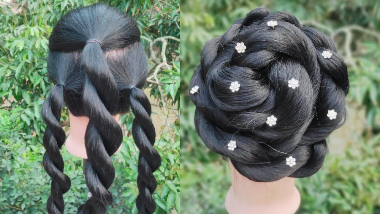Very Easy Twisted Hairstyle For Party Gown Hairstyle Special Occasion Hairstyle Trend Special Occasion Hairstyles Hairstyle Khopa Hairstyles For Gowns