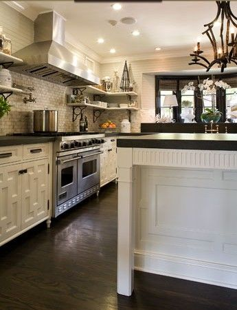 Beau Jeff Lewis Style Kitchen; All Shelves, No Upper Cabinets