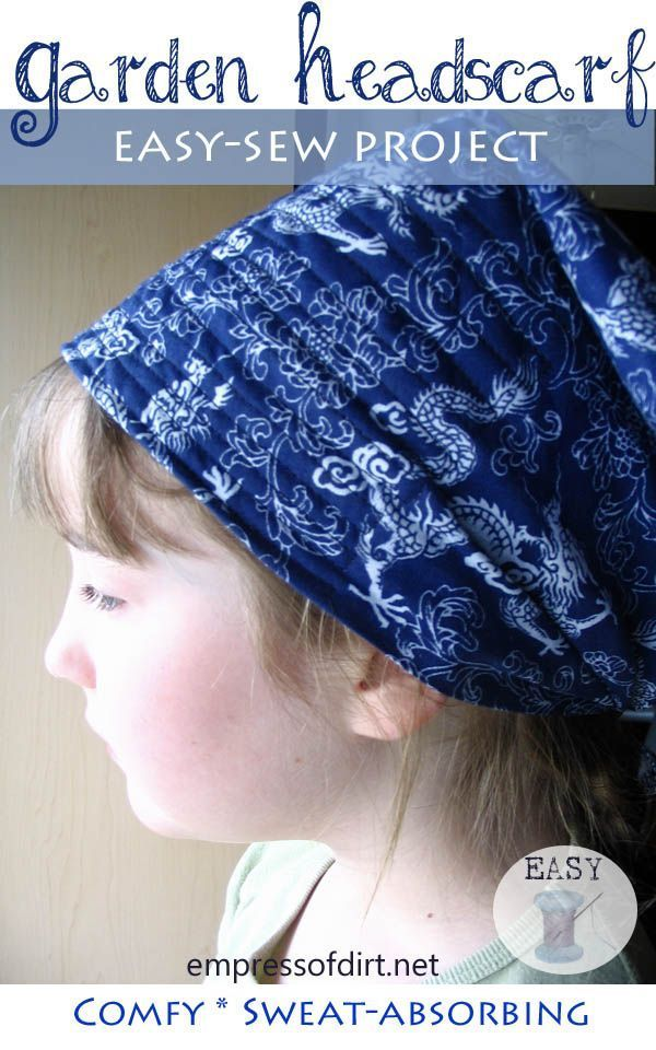 EasySew Garden Headscarf  If you are like me you live and breathe fashion You are continuously encouraged with a great number of new styles racing by way of your head a g...
