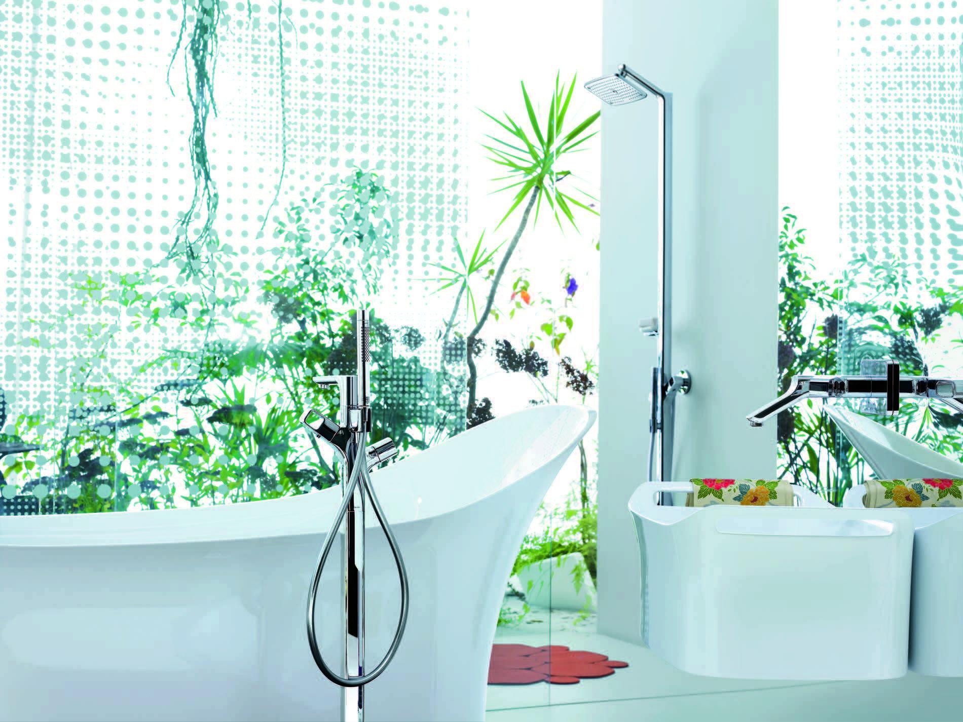 Axor Urquiola Tub with Freestanding Tub Filler | Detailed - Feminine ...