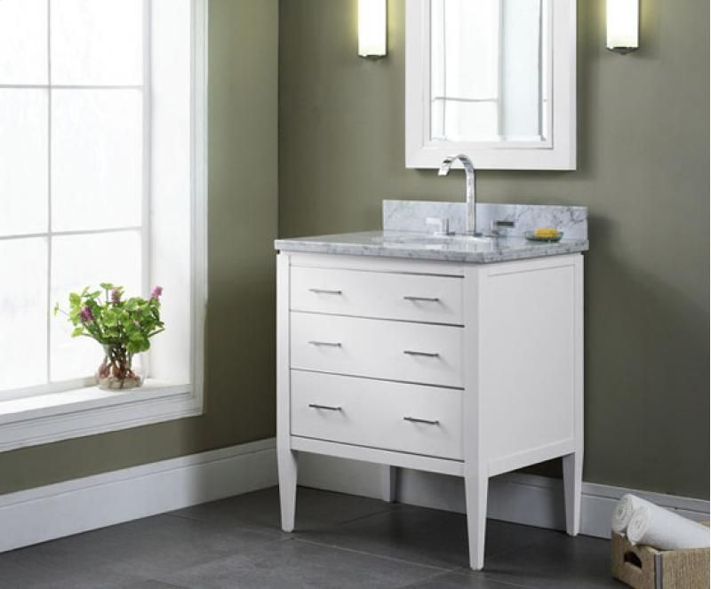 Vmanhattan30wt In White By Ryvyr In Chicago Il V Manhattan 30wt Home Glass Bathroom Vanity Cabinet Bathroom vanities manhattan ryvyr v