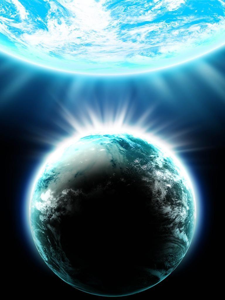 Earth & Moon Rising