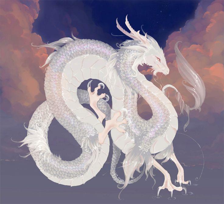 image result for white dragon flying up art pinterest