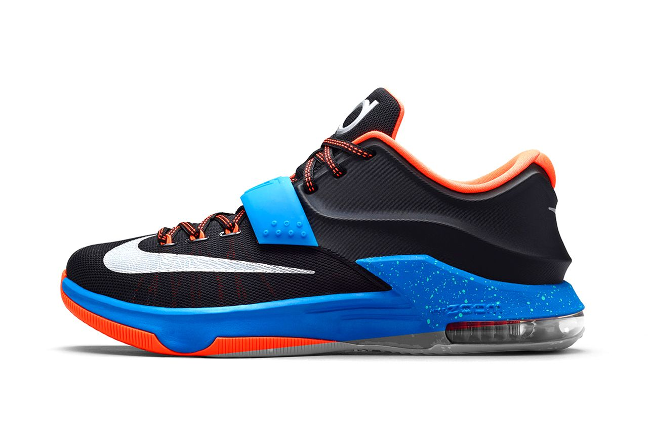 4660371a6a51 The latest variation of Nike s KD7 is inspired by road games for the  Oklahoma City Thunder forward.