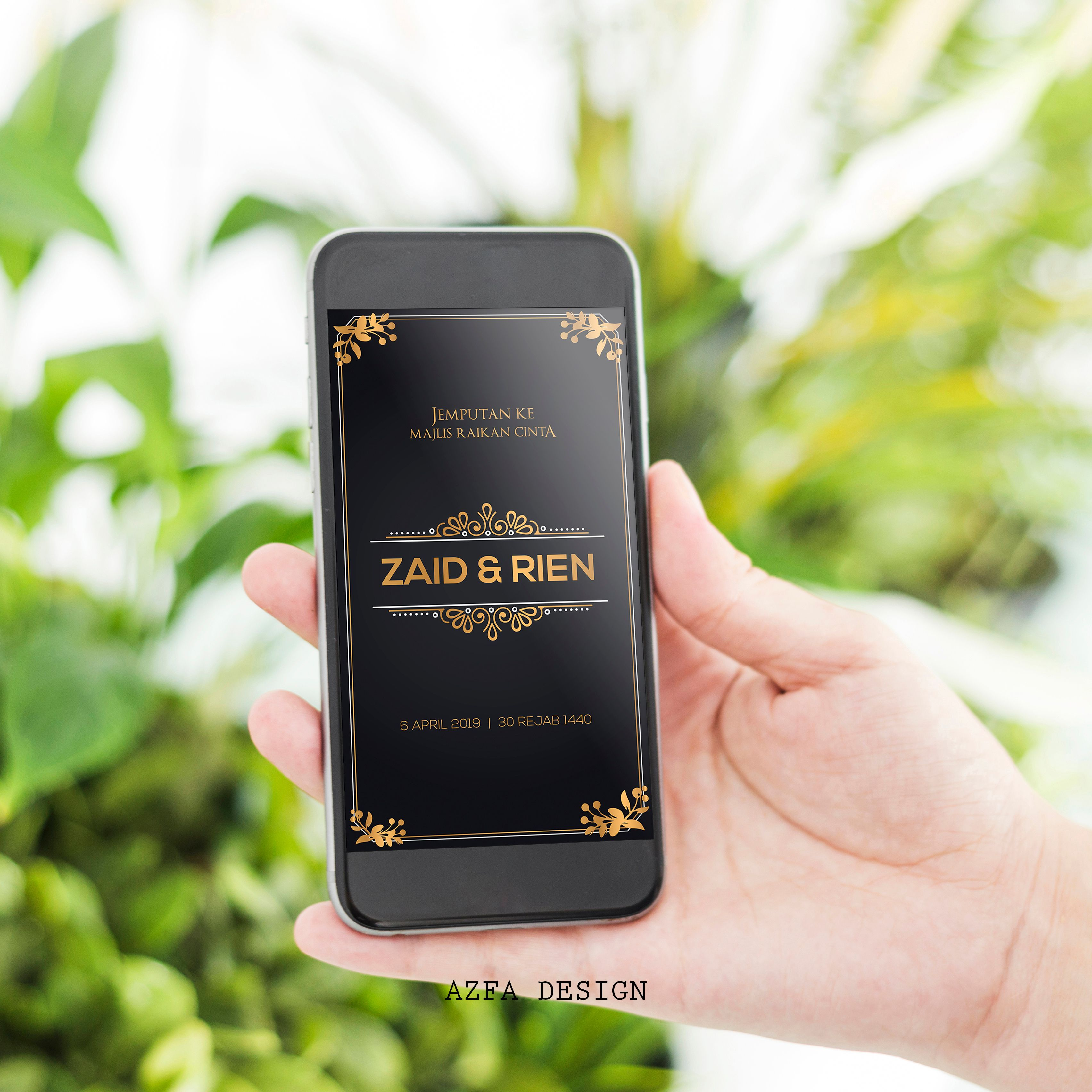 Azfadesign Kadkahwin Makin Simple Design Kad Kahwin Tu Makin Unik Sebenarnya Kan Bak Kata Oang Put Blackberry Phone Electronic Products Invitation Cards