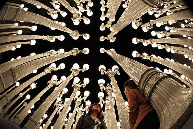 Urban Light At LACMA ~ Photo by...Jonathan Alcorn© June 2012