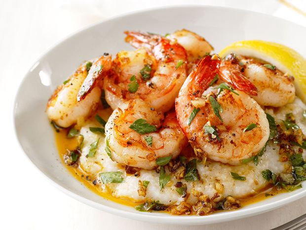 Lemon-Garlic Shrimp and Grits from FoodNetwork.com