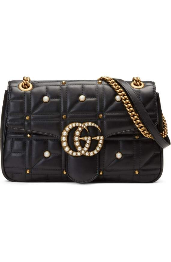 ecebc895e Product Image 1 Pearl Logo, Gg Marmont, Quilted Leather, Leather Shoulder  Bag,