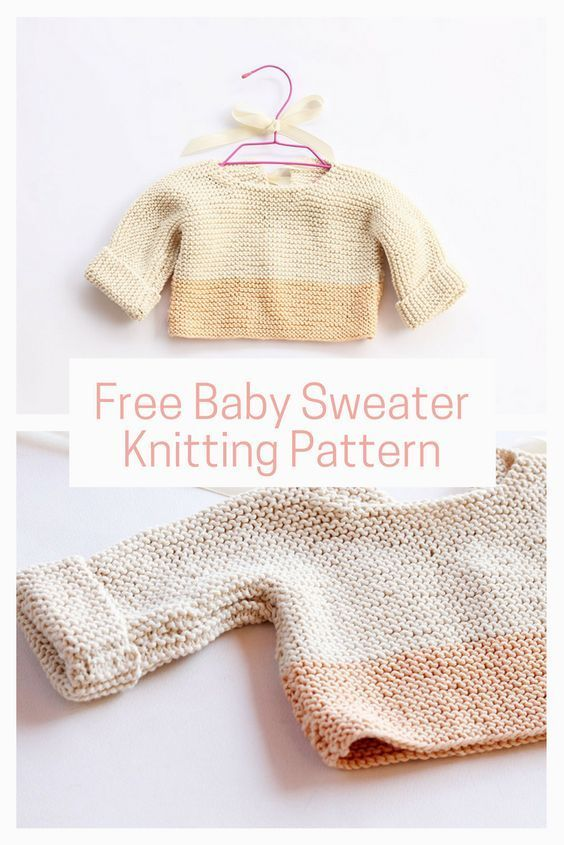 Baby sweater knit pattern
