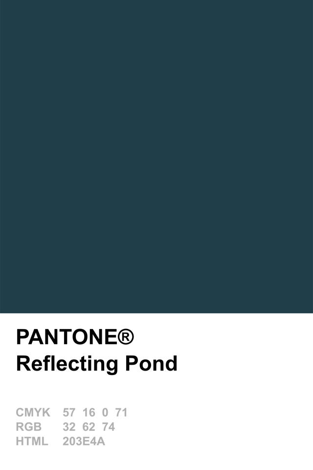 Pantone 2015 Reflecting Pond Color Pinterest Pantone