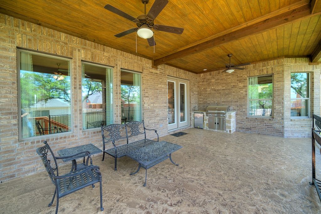 Patio complete with an outdoor kitchen. #GreatSpaces # ... on Complete Outdoor Living id=93091