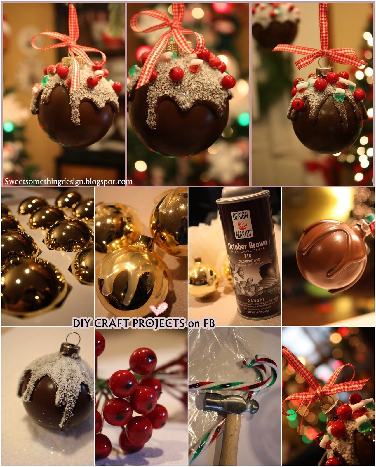 Diy Projects Chocolate Candy Christmas Ornament Christmas Crafts Chocolate Ornament Christmas Balls