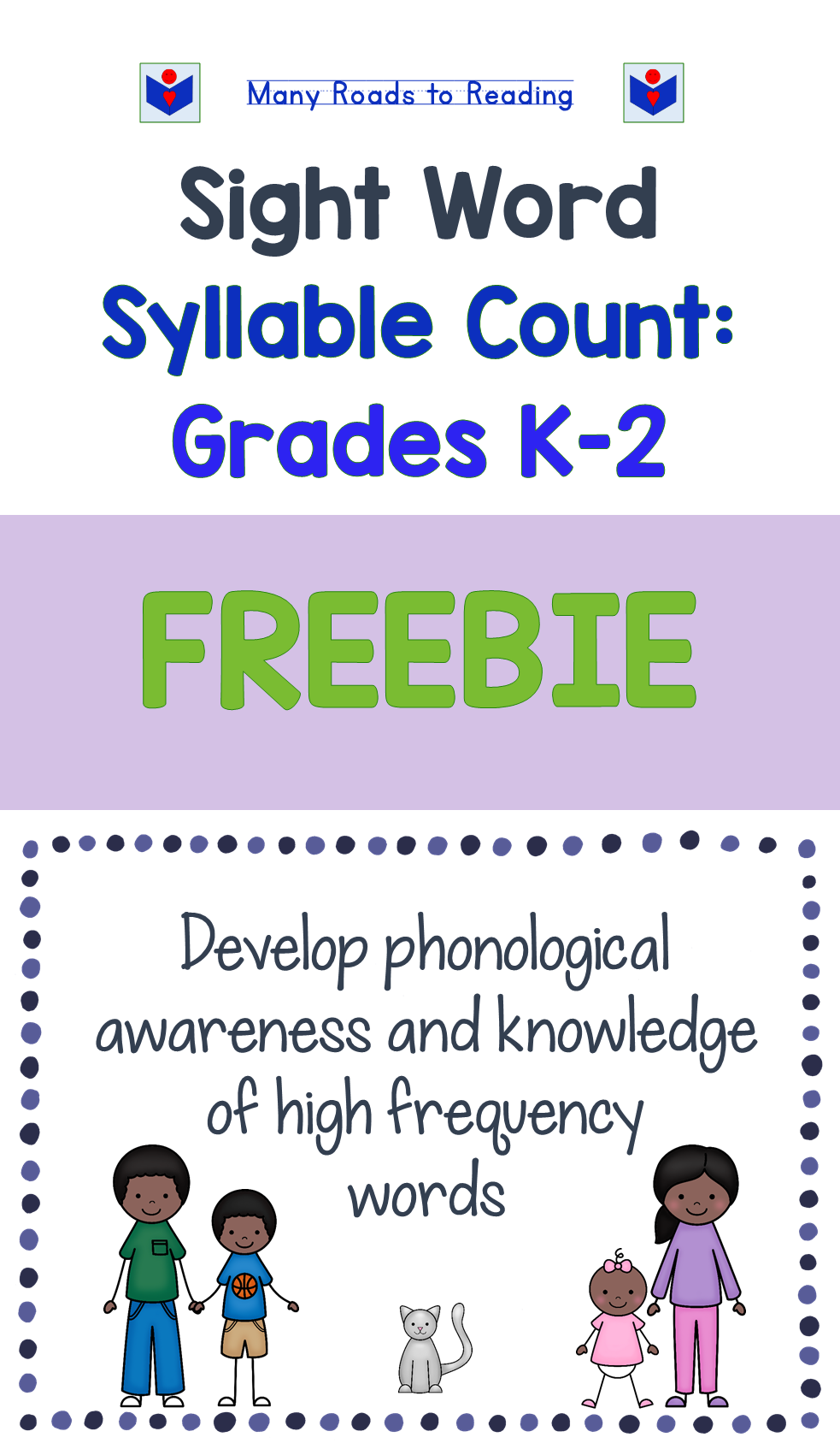 Sight Word Syllable Count: Grades K-2 FREEBIE | Pinterest